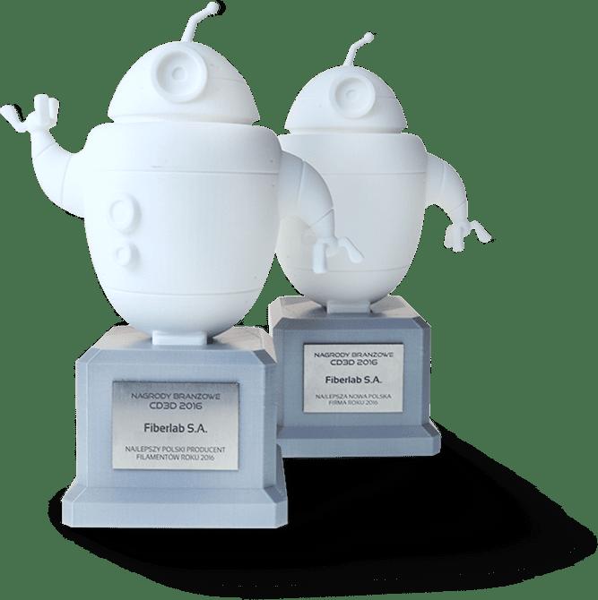 award for the best filaments manufacturer Fiberlogy