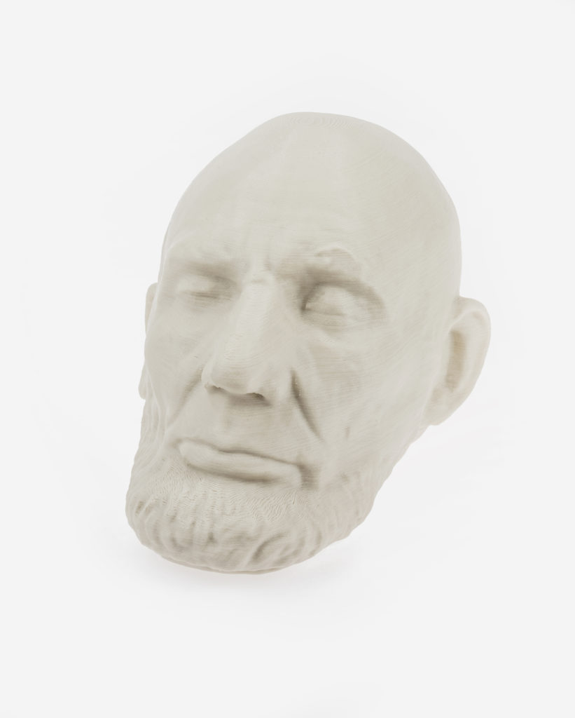 3d printed head with PLA Mineral filament from Fiberlogy