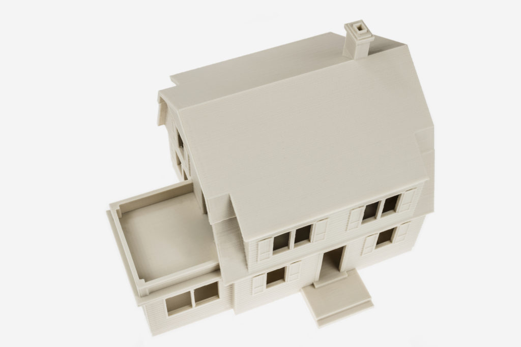 3d printed house with PLA MINERAL filament from Fiberlogy