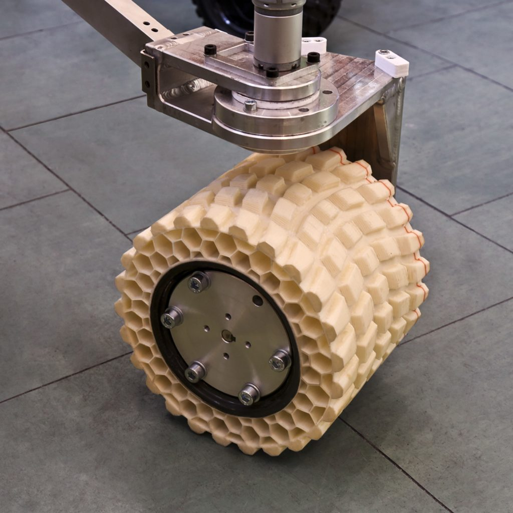 Opona wydrukowana z filamentu Fiberflex 40D