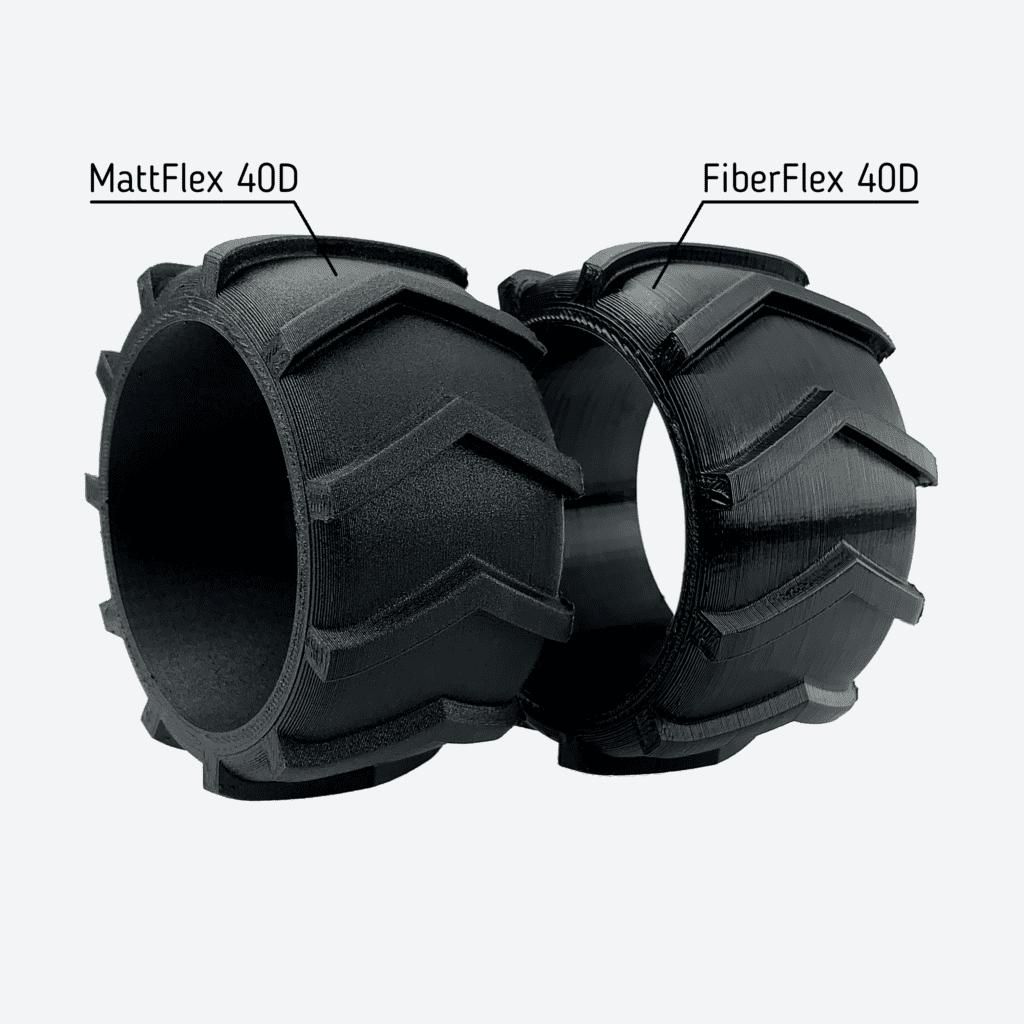 Fiberlogy_MattFlex_40D_Black - Print - FiberFlex - comperison tires - GrayBG-min